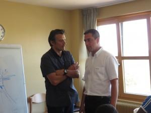 Le directeur général de l'ODCVL Bruno Colin (à gauche) et le maire de Gérardmer Stessy Speissmann