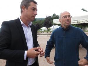 Stessy Speissmann et Jean-Joseph Maglia, président de TG2V
