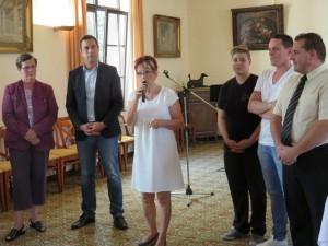 Geneviève Jeanny a présenté l'action D'handicap 88 et de sa section les Voix du Coeur