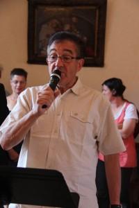 Serge Renaud lors de la cérémonie à l'Hôtel de Ville