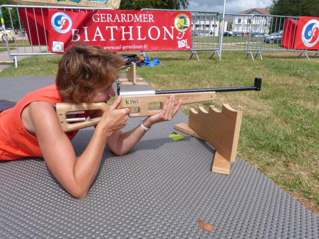 Il était possible de s'essayer au tir à la carabine laser avec sylvie Triboulot