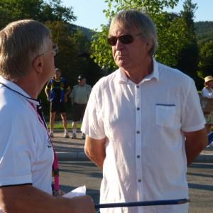 Alain Chazal à droite PDG du Groupe du même nom très impliqué dans le sport notamment le vélo