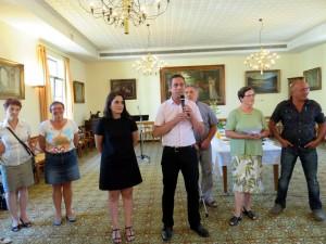 Le maire Stessy Speissmann a lancé les réjouissances avant de céder la parole à la nouvelle inspectrice Magali Kraft (à sa gauche)