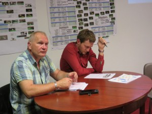Jean-Michel & Michael martin, président et secrétaire du club