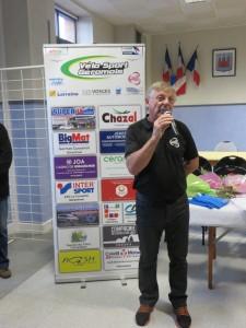Le président J-C Ruer est brièvement revenu sur la course du 30 août dernier avant de mettre à l'honneur les bénévoles et partenaires des Ballons Vosgiens
