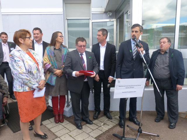 De nombreuses personnalités présentes autour du maire Stessy Speissmann et du sous-préfet Yves Camier