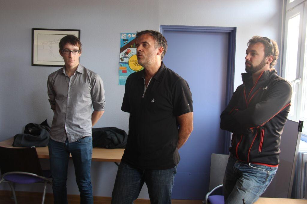 La délégation de l'ASG aviron avec Thibault, le président Arnaud Tixier et le coach Baptiste André