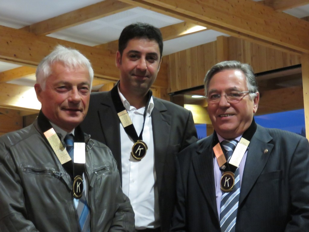 Le nouveau bureau du Kiwanis : Michel Lavest, Youssef Bougarnou et Bernard Krafft