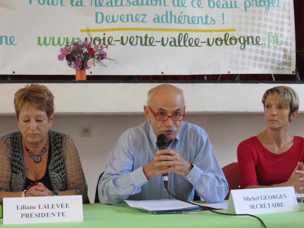 Michel Georges a fait le point sur le projet de voie verte qui suit son petit bonhomme de chemin