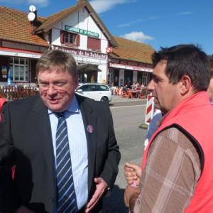 François Vannson à la rencontre des salariés de Vosges du textile Vosgien