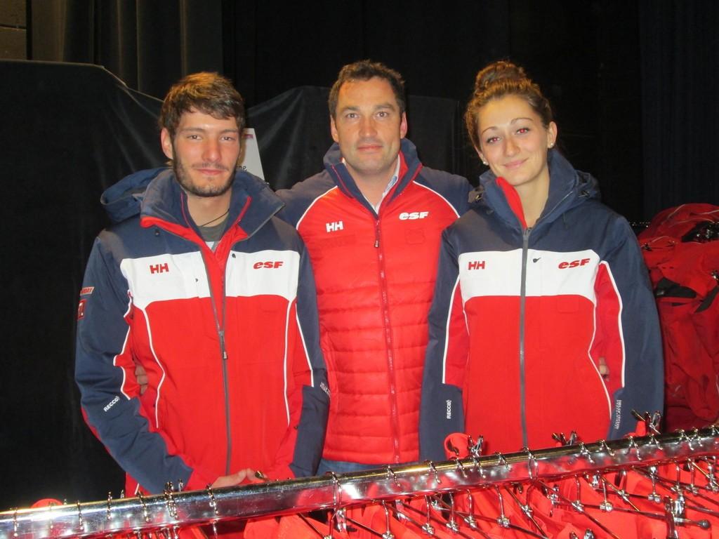 Franck Lemaire en compagnie de Clémence & Hervé, moniteurs sur le domaine skiable de Gérardmer