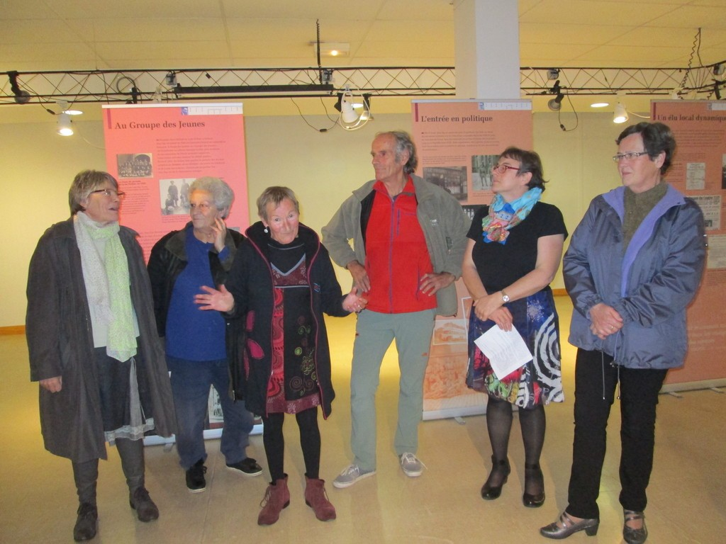 Une exposition inaugurée par la LDH en présence des élus du conseil Municipal Anne Chwaliszewski et Marie-Rose Briot