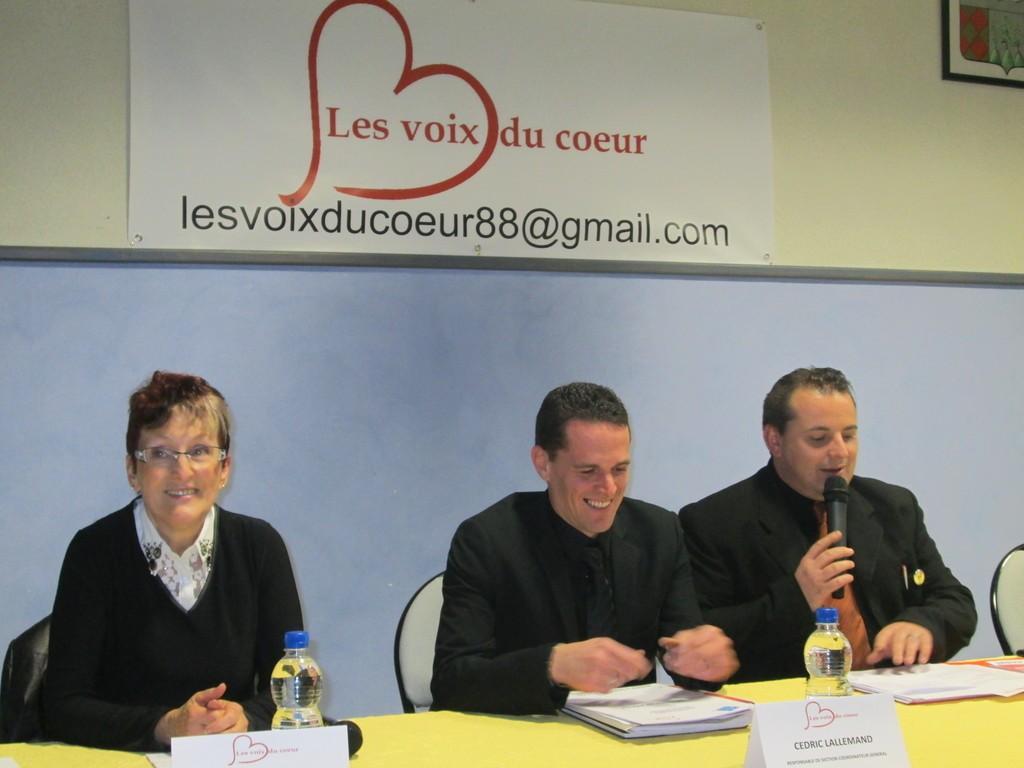 G. Jeanny, Cedric Lallemand et Romain Balland ont animé la séance