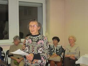 La présidente de l'AVF locale Michèle Schmidt