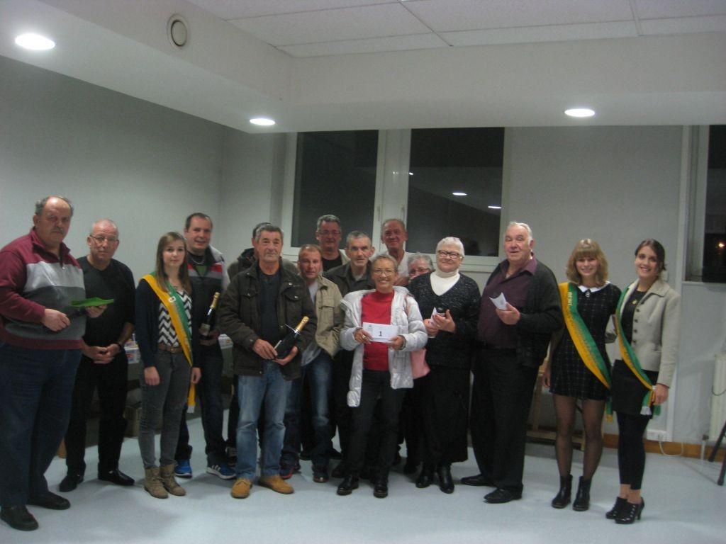 La reine des Jonquilles et ses dauphines étaient présentes à la remise des prix du concours de la SDF