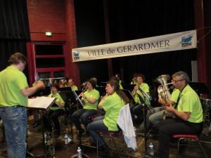 L'ambiance musicale assurée par l'Ecole de musique, toujours avec brio