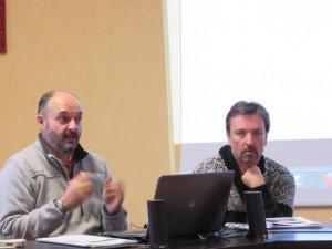 Alain Bongel, chargé de projet, et Jean-Michel Tusa, responsable du service jeunesse de la ville de Gérardmer