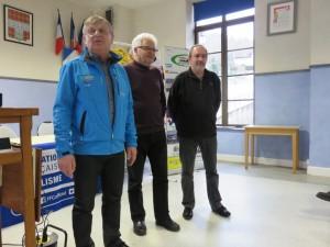 Jean-Claude ruer, Alain Géhin et Marc Baur