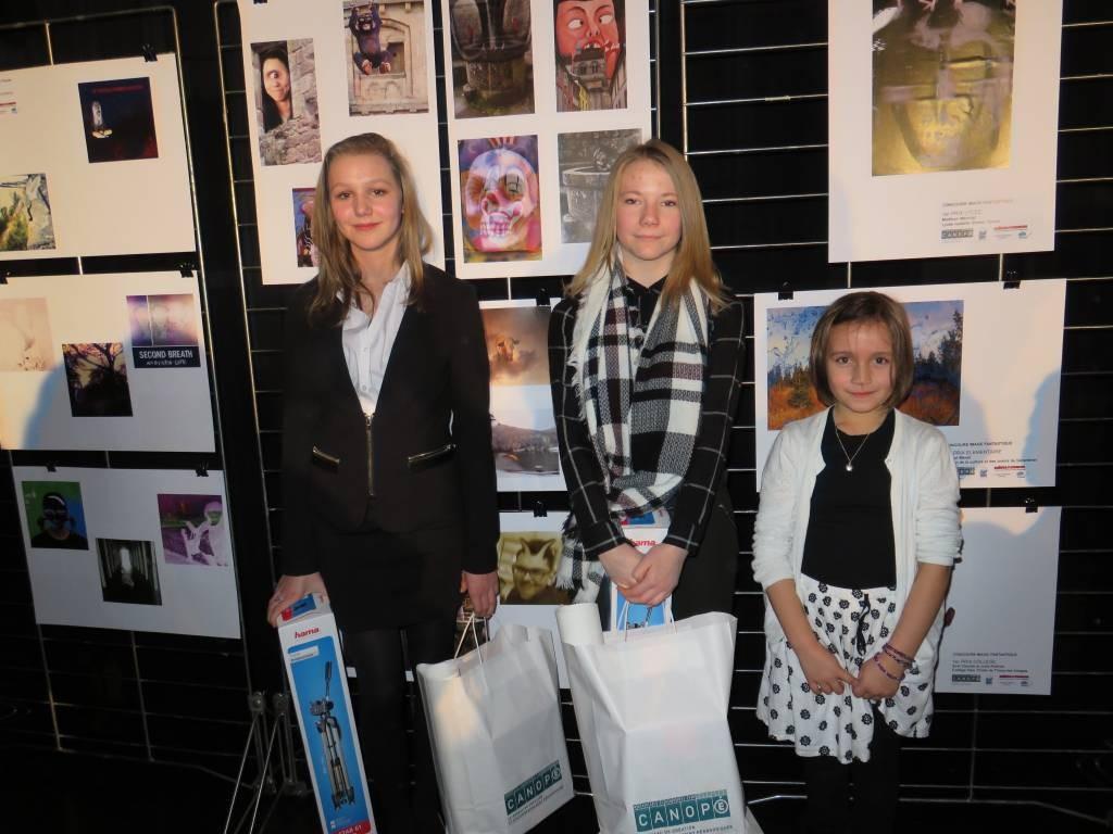 Madison, Evie & Margot : les trois premiers prix sur un plateau.