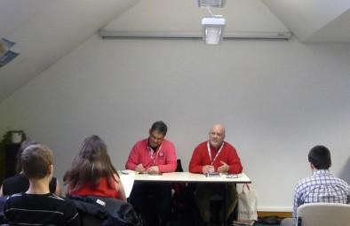 Les deux auteurs, Pierre Benoist à droite (le père), et Renaud Benoist à gauche (le fils).