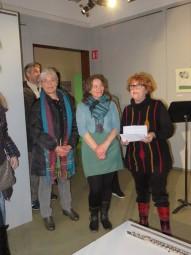 Stéphanie Bégel (au centre) en compagnie de Lydie Duillemin et Martine Crouvezier, trésorière et présidente de la MCL