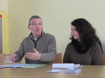 Le président de l'ASF Pierre Géhin et l'intervenante du jour : Marion Rolin