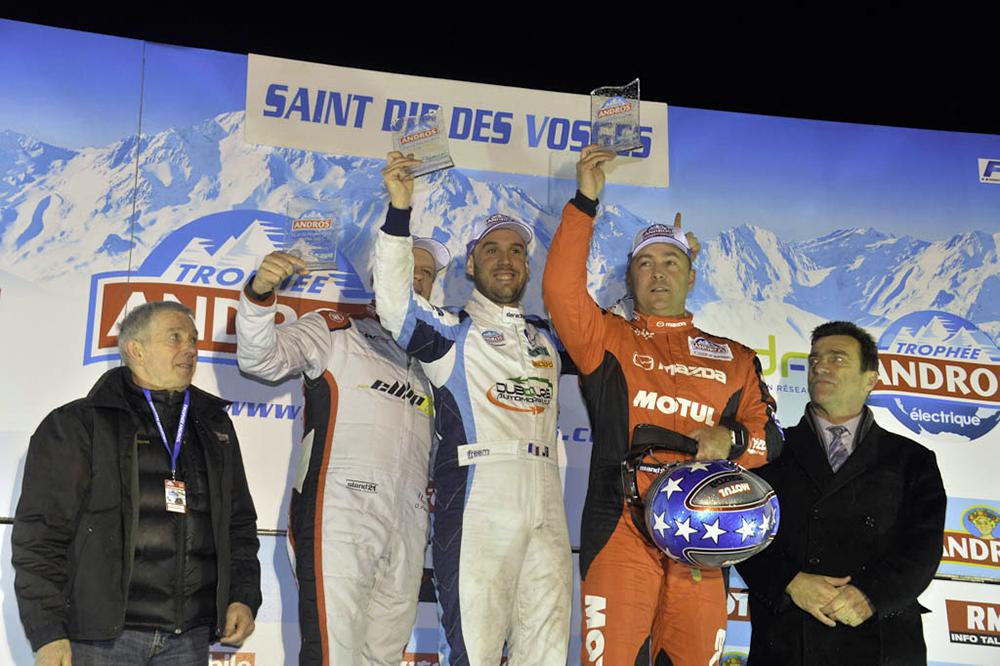 Jean-Baptiste Dubourg termine en seconde et première places des courses déodatiennes, et s'impose par la même occasion au classement général de la catégorie « Elite Pro ». Crédit photographique : Trophée Andros.
