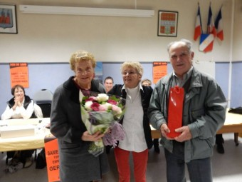 Jacqueline & rené en compagnie de Françoise Didier (au centre)