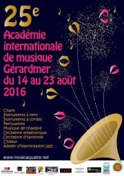 Académie de musique 2016 Gérardmer