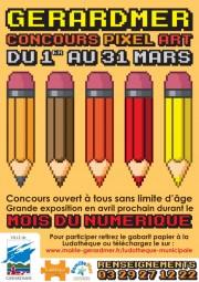 Affiche mois du Numérique Gérardmer
