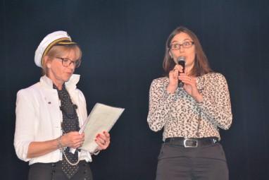 Dominique Jacquemin en compagnie de la directrice de l'IME Mme SWARTENBROECKX
