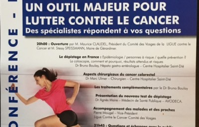 Conférence Mars Bleu cancer