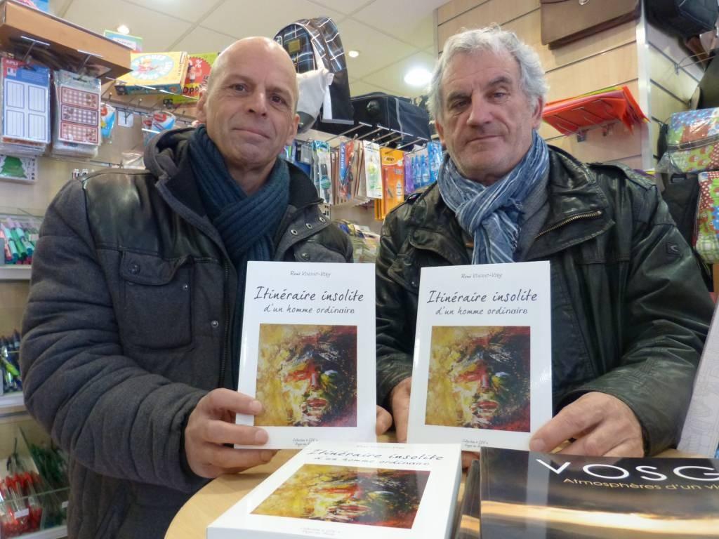 Jean-Marie Géhin éditeur (à gauche) et René Vincent-Viry