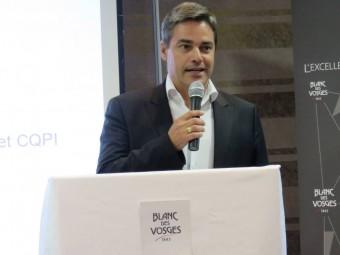Jean-François Birac, président de F. hans Blanc des Vosges