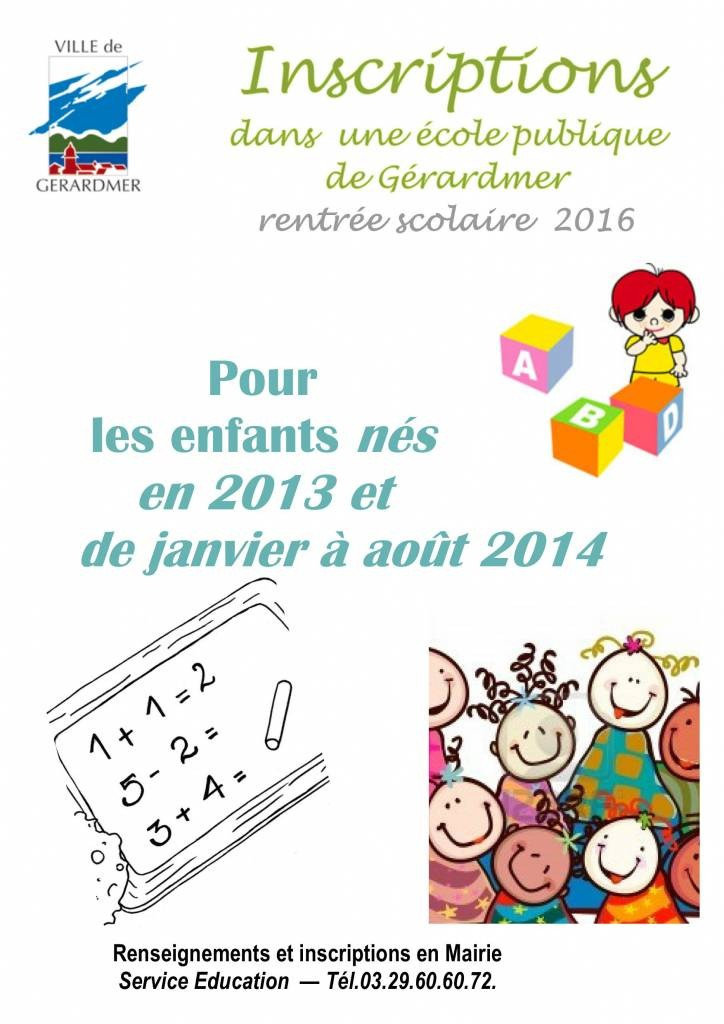 AFFICHE Inscription école.2