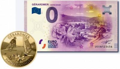 Billet et pièce de monnaie Gérardmer