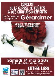 affiche concert au Tholy 14 mai