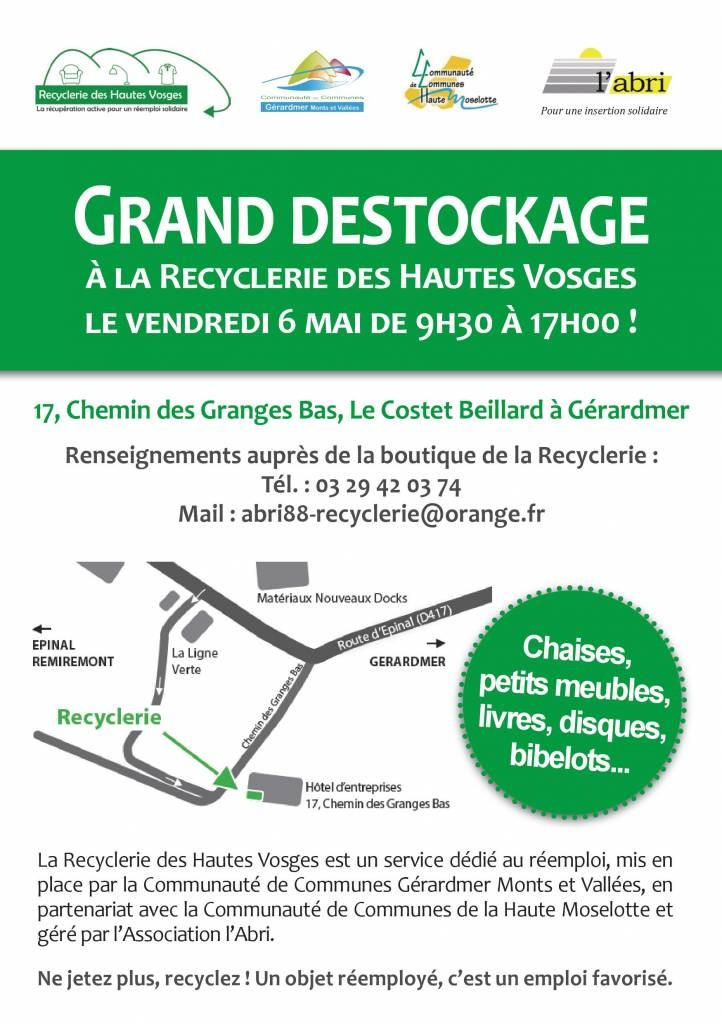 recyclerie destockage