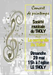 Concert de printemps le Tholy 2016