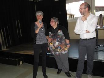 O. Chaponnet (à gauche) et C. Vapillon en compagnie de Stéphane Lepoil