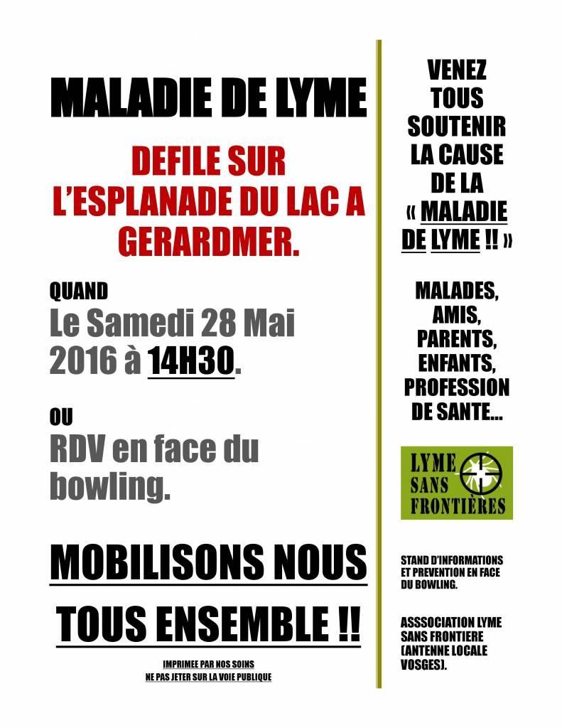 affiche marche Lyme 2016 Gérardmer