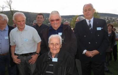 Jules Rocca entouré de Jean-Claude Barraud, Raymond Schmitt et Christian Petzl