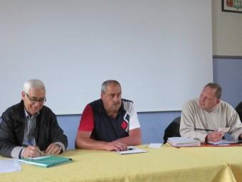 Olivier Simon (au centre) en compagnie de René L'Homme (à gauche sur la photo)