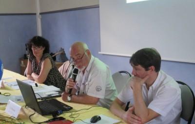 Le président François Delon en compagnie de l'adjointe aux sports Nadine Bassière