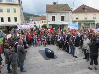 collège Granges Cercueil flamme marche (1)