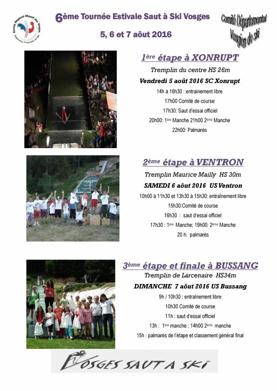 Programme saut aout 2016 U13