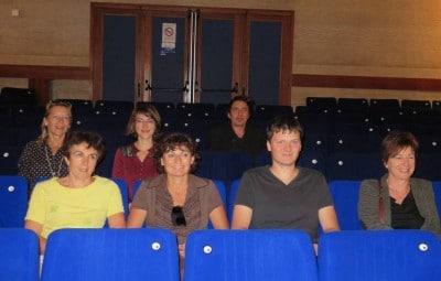 La commission ciné a effectué une petite visite de la salle à l'occasion de la première réunion de la rentrée