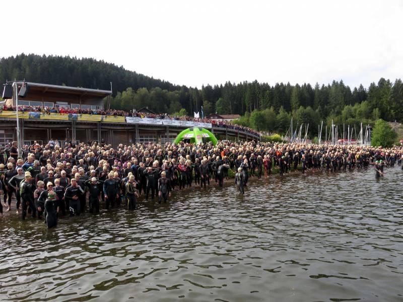 départ triathlon gérardmer