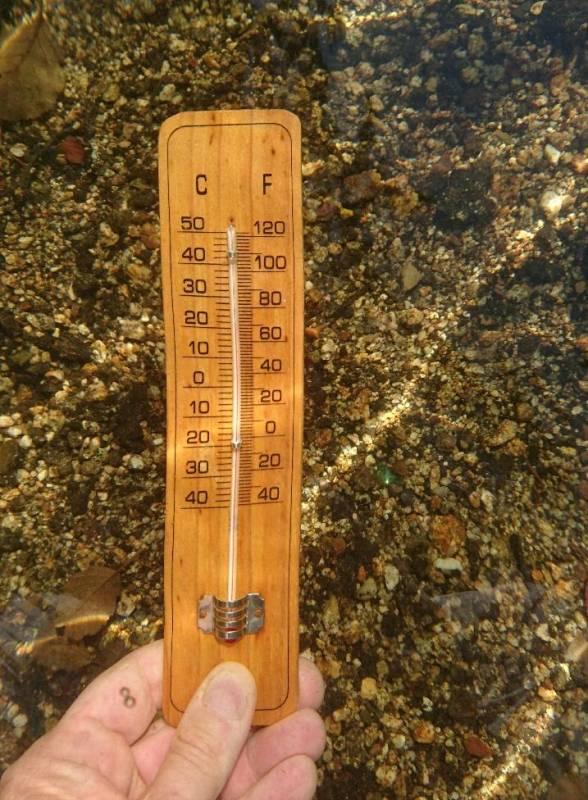 température lac