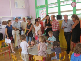 Une salle de classe toute neuve à Marie Curie